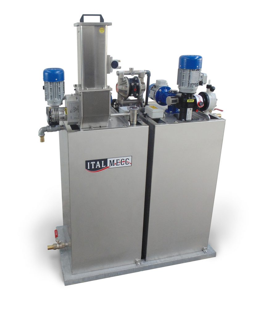 automatic flocculant dosing station - marble industry - water filtration - ITALMECC
