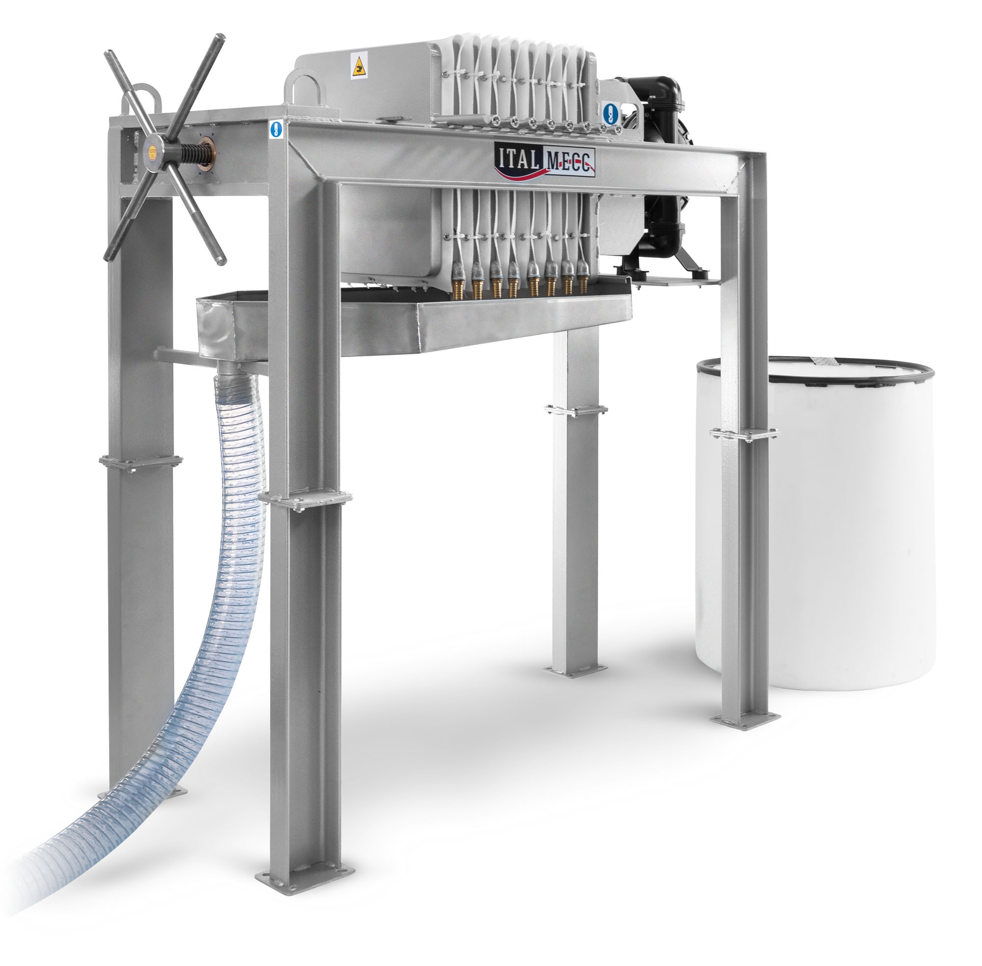 water filtration for marble industry - semiautomatic filter-press sa500 - Italmecc