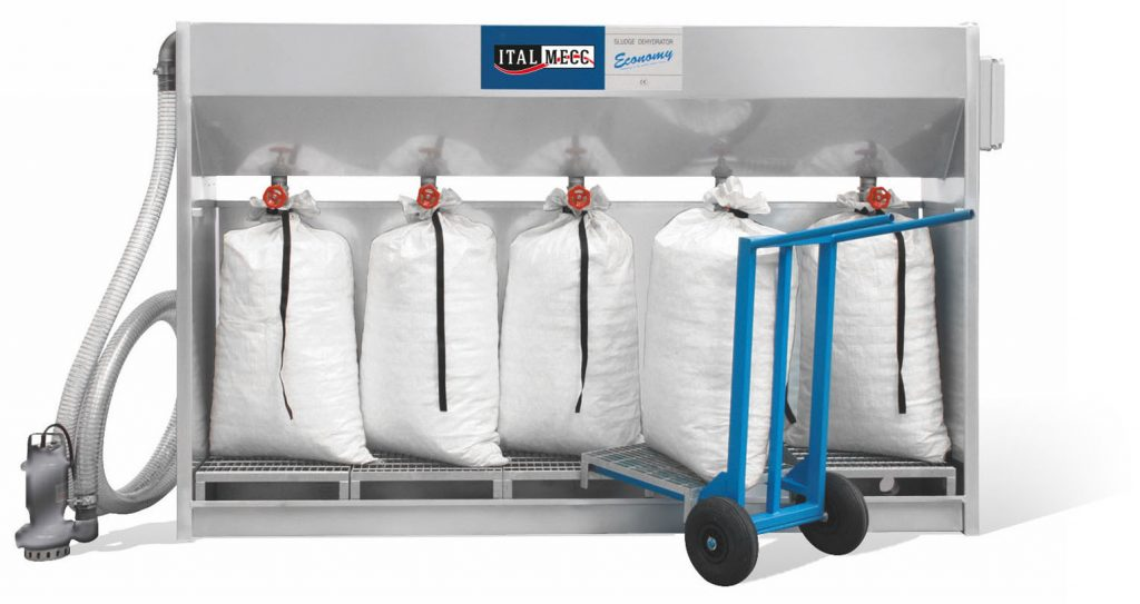sludge dehydrator water filtration on marble industry process